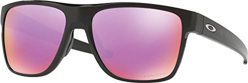 Oakley Men's Crossrange Xl Non-Polarized Iridium Square Sunglasses, Polished Black, 58.04 - Golf Oakley Gear