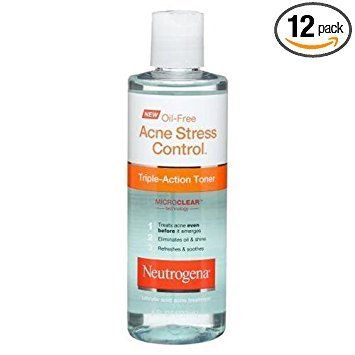 Neutrogena Acne Stress Control Oil Free Triple Action Toner, 8 Fluid Ounce - 12 per case.