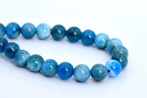 6mm Genuine Natural Apatite Beads Grade A Round Loose Beads 7.5'' Crafting Key Chain Bracelet Necklace Jewelry Accessories Pendants (Mlb Genuine Necklace)
