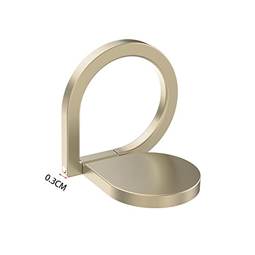 Phone Ring Holder Stand, HuntGold Universal Rotated Water-drop Finger Ring Clip Stand Bracket Buckle Phone Grip Kickstand for All Smartphones iPhone Samsung Huawei Also for Tablets Gold by HuntGold (Image #2)