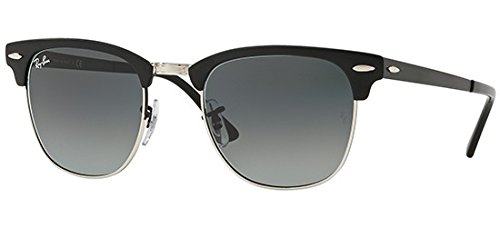 Ray-Ban Clubmaster Metal Sunglasses,51mm,Silver/Grey