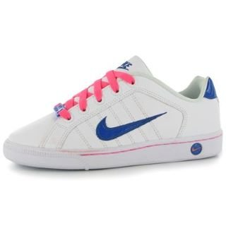 Nike COURT TRADITION 2 PLUS (GS) - Zapatillas de tenis para niña - tamaño: 4.5y, color: white/game royal digital pink: Amazon.es: Zapatos y complementos