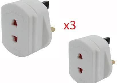 Afeitadora Adaptador (2 Pines Hasta 3 Patillas) 1amp (3): Amazon ...