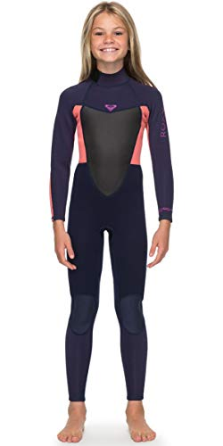 Roxy Girls Prologue 4 3MM Back Zip Wetsuit Blue Ribbon Coral Flame - Easy  Stretch   Lightweight 9526ec184