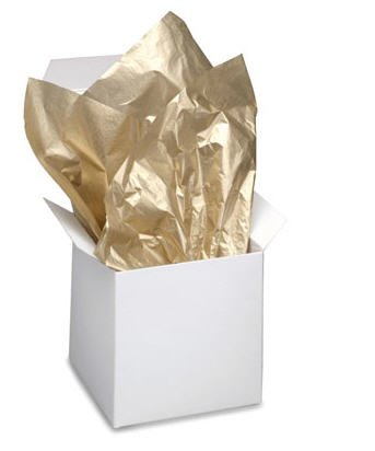 Gold / Gold Metallic Tissue Paper 20 Inches  X 30 Inches - 10 Sheets