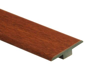 (High Gloss Natural Jatoba 7/16 in. Thick x 1-3/4 in. Wide x 72 in. Length Laminate T-Molding )