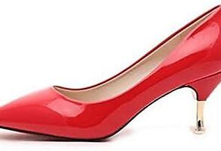 GGX/ Chaussures Femme-Habillé / Soirée & Evénement-Noir / Rose / Rouge / Blanc-Talon Aiguille-Talons-Talons-Similicuir black-us5 / eu35 / uk3 / cn34 MNJMK