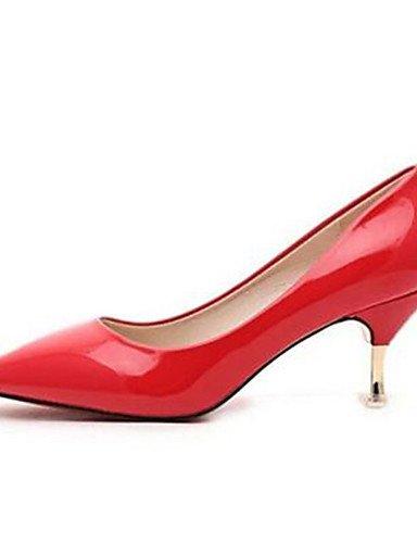 talon Soirée Rose Aiguille us5 talons Evénement Uk3 amp; Eu35 talons Rouge Blanc Ggx Chaussures noir Femme Cn34 Pink similicuir habillé w0tvxnBqp4