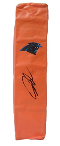 Carolina Panthers Greg Olsen Autographed Hand Signed Full Size Logo Football Touchdown End Zone Pylon with Proof Photo and COA - Greg Olsen Miami