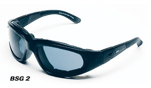 Body Spec ~ Shooting Goggles/Sunglasses ~ Black Frame/Smoke - Green Lens