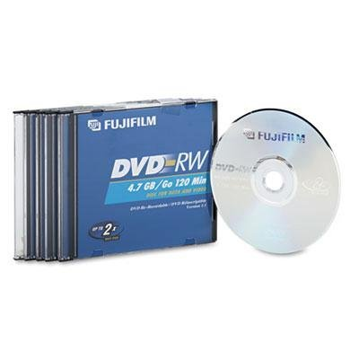 Fuji - Dvd-Rw Discs 4.7Gb 2X W/Jewel Cases Silver 5/Pack Product Category: Storage Media/Dvds