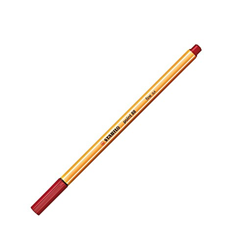 STABILO Stylo-Feutre POINT 88 Pointe Fine 0,4 mm rouge bordeaux