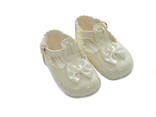 The Gorgeous 1 - Zapatos primeros pasos para niña Marfil