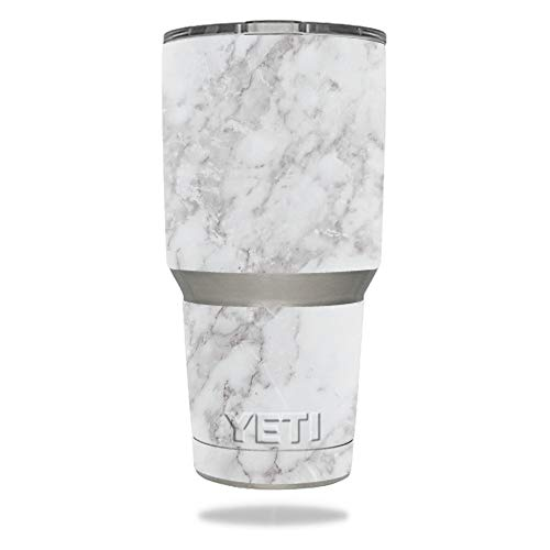 (MightySkins Skin Compatible with YETI 30 oz Tumbler - Frost Marble | Protective, Durable, and Unique Vinyl Decal wrap Cover | Easy to Apply, Remove, and Change Styles | Made)