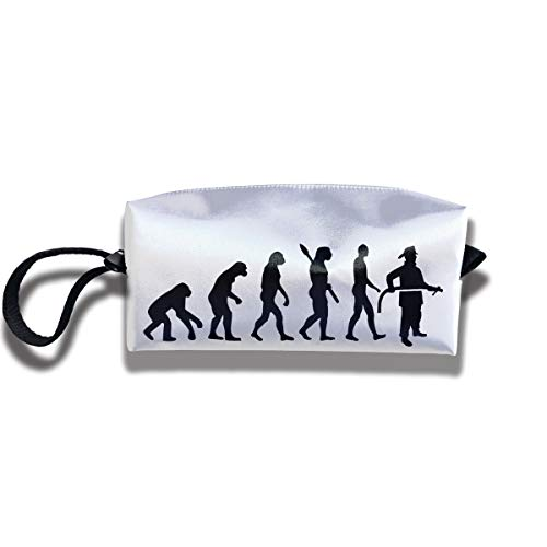 Cosmetic Bags With Zipper Makeup Bag Evolution Of Fireman Middle Wallet Hangbag Wristlet Holder]()