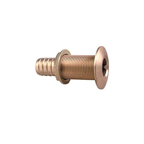 Perko 0350006DPP Plain Bronze Thru-Hull Connection for Hose - 1