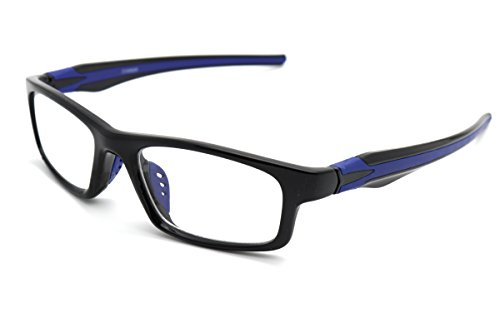 ColorViper Sports Double Injection Readers Flexie Reading Glasses (BLACK BLUE, 1.25)