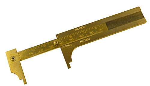 """3"""" 80 MM Solid Brass Vernier Gauge Jewelry Stone Measuring Inches Millimeters Tool"""