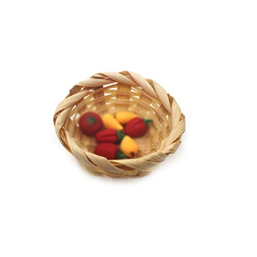 m·kvfa 1:12/1:6 Doll House Miniature Scene Model Bamboo Basket Pretend Toys Doll House Accessories for Your Children from *m·kvfa* Dollhouse
