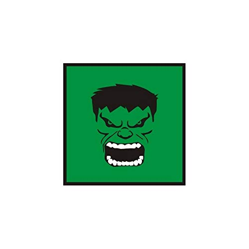 Quadro relevo Hulk face