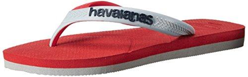 Havaianas Mens Casual Flip-flop Rosso / Grigio