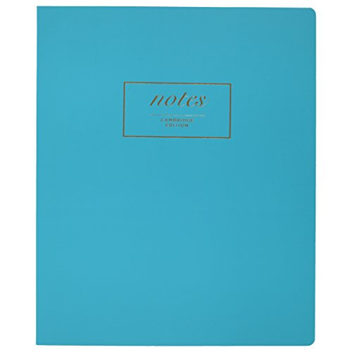 """Mead Cambridge Meeting Notebook / Journal, Teal, 80 Casebound Sheets, 11"""" x 9"""" Inches (49550)"""