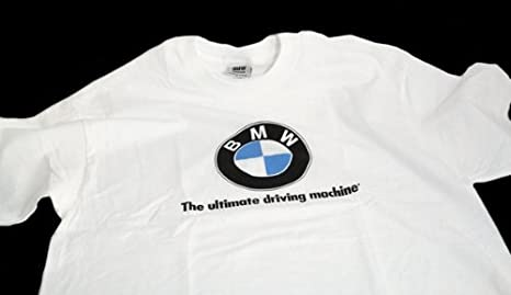 d31d8d8d8cf9 Image Unavailable. Image not available for. Color  BMW lifestyle short  sleeve T-shirt with BMW logo and slogan White