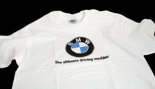 (BMW Lifestyle Short Sleeve T-shirt with BMW Logo and Slogan (XL))