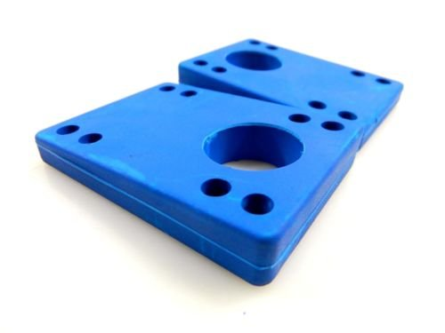 Angled Wedge Rubber Blue Riser Pads 5/16''-9/16'' (8mm-14mm) ABEC 7 Bearings 1.5'' Hardware by Blank
