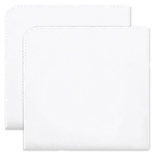 Swaddling Blanket Swaddledesigns Ultimate - SwaddleDesigns Ultimate Swaddles, Set of 2, X-Large Receiving Blankets, Made in USA Premium Cotton Flannel, Pure White with White Trim (Mom's Choice Award Winner)