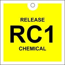 Premier Factory Safety Release Chemical Tag : - Square Clair St