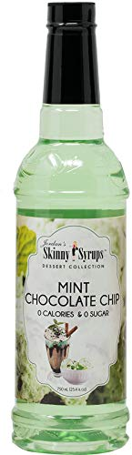 Jordan's Skinny Syrups |  Sugar Free Mint Chocolate Chip Syrup | Healthy Flavors with 0 Calories, 0 Sugar, 0 Carbs | 750ml/25.4oz Bottle (Based Christmas Vodka Drinks)