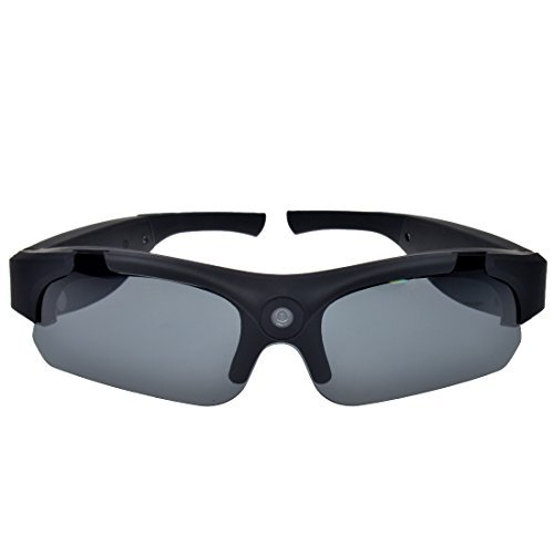 Campark HD Sports Video Sunglasses Camera,120 degrees Wide Angle Lens, Polarized lenses with Free 8G Micro SD card