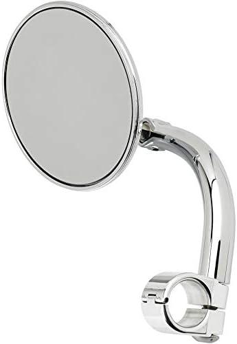 Biltwell UM-CIR-HD-BK Round Perch Mount Mirror for H-D-Black