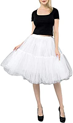Museourstyty - Falda de tul para mujer, retro, 5 capas, malla ...
