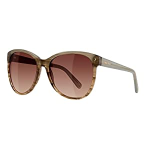 Nine West Womens Gradient Oversized Cat Eye Sunglasses Brown O/S