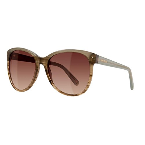 Nine West Womens Gradient Oversized Cat Eye Sunglasses Brown - Nine Sunglasses West Polarized