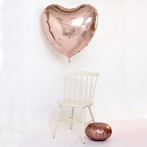 (Heart Balloon - 2 Set Large Jumbo Size 32 inch Heart Party Decoration Aluminum Foil Membrane Balloon,Heart Shape 36 Inch Foil/Mylar, Party Balloon,Wedding Balloon,for proposal, Party Decoration,Party Supplies,Wedding(Rose)
