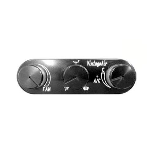 - Vintage Air 491223-RUA Gen IV Black Horizontal Control Panel