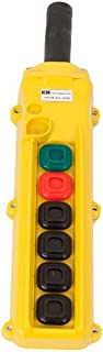 product image for KH Industries CPH06-B2D-000A 6 Push Buttons Pendant Control Switch, Maintained On/Off, 2-Two Speed