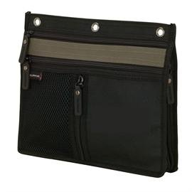 "3 Ring Binder Pencil & Accessory Pouch... Expandable 10"" X 8 1/2"" X 1"""