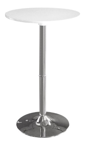 SixBros. Design - Mesa bar blanco/cromado - M-80402-H/161