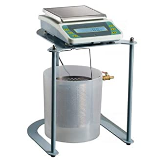 Hanchen Balanza de Densidad/Volumen de Sólidos 0.1g Diseño Hidrostático Báscula Electrónica de Precisión 2kg/5kg Kit de Détermination de Densidad para Laboratorios/Carreteras (5kg/0.1g)