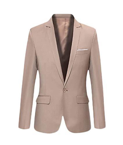 Fashion Giovane Da Classica Giacca Saoye Uomo Business Fit Khaki Slim Ufficio Blazer nBwYp1ZZq