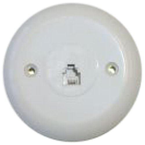 BT-016 WHITE  Modular Wall Jack (Telephone Wall Phone Jack)