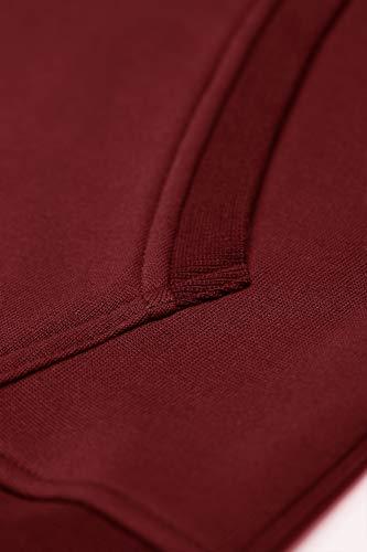 Sweat shirt Vin À Hiver Sweats Homme Cassiecy Classique Manche Rouge Casual Capuche Automne Pullover Longue Hoodie Zippé wqO5xZ65P1
