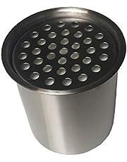 Roestvrijstalen blik 0,45 L met keramische wol bio-ethanol tafelhaard brandcontainer, variant: container 450 ml
