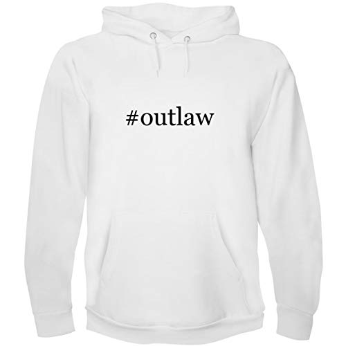 The Town Butler #Outlaw - Men's Hoodie Sweatshirt, White, -