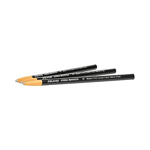 - DIXON Industrial Phano Peel-Off China Marker Pencils, Thin, Black, 12-Pack (00081)
