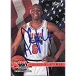 Derrick Coleman USA Team - New Jersey Nets 1994 Skybox Autographed Card - Dream.
